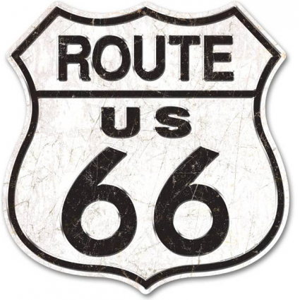 Route 66 Premium Large Tin Road Sign Ivey's Gifts and Decor