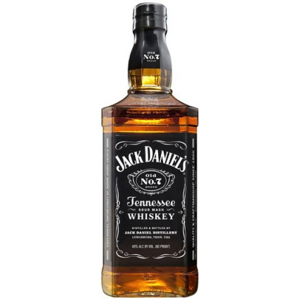 Jack Daniels Black Label Whiskey Bottle Die Cut Premium Large Tin Sign Ivey's Gifts and Decor