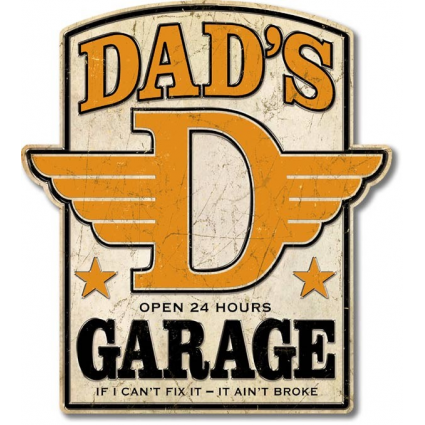 Desperate Enterprises Dad's Garage Open 24 Hours Premium Large Tin Sign Ivey's Gifts and Decor