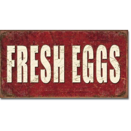 Desperate Enterprises Fresh Eggs Tin Sign Ivey's Gifts and Decor
