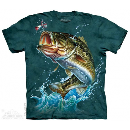 The Mountain Artwear Jumping Bass Fishing Adult Shirt Ivey's Gifts And Decor