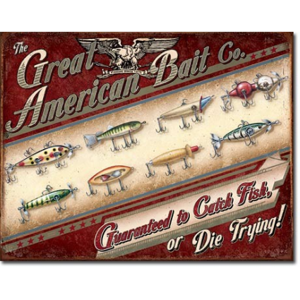 Great American Bait Company Tin Sign Ivey's Gifts and Decor