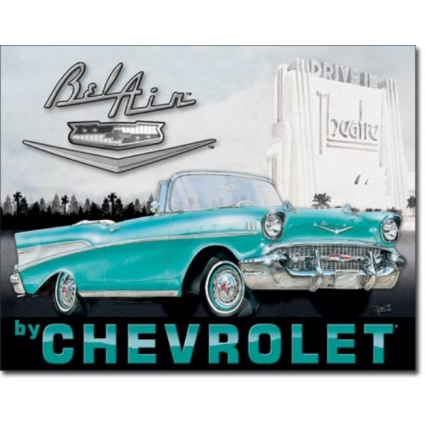 Desperate Enterprises 1957 Chevrolet Bel Air Tin Ivey's Gifts and DecorSign