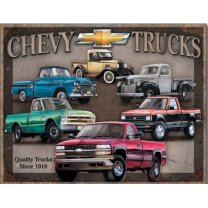 Desperate Enterprises Quality Chevrolet Trucks Tribute Tin Sign Ivey's Gifts and Decor