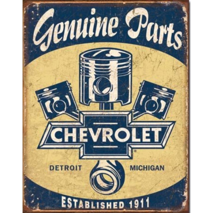 Desperate Enterprises Genuine Parts From Chevrolet Tin Sign Ivey's Gifts and Decor