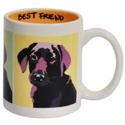 Best Friends Black Lab Ceramic Coffee Mug