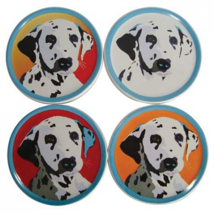 Dalmatian Coasters Set Of 4 From The Bill Tosetti Collection