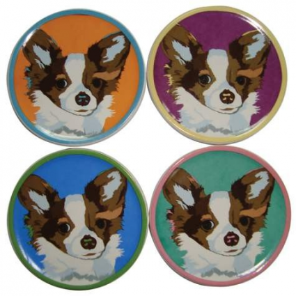 Chihuahua Coasters Set Of 4 From The Bill Tosetti Collection