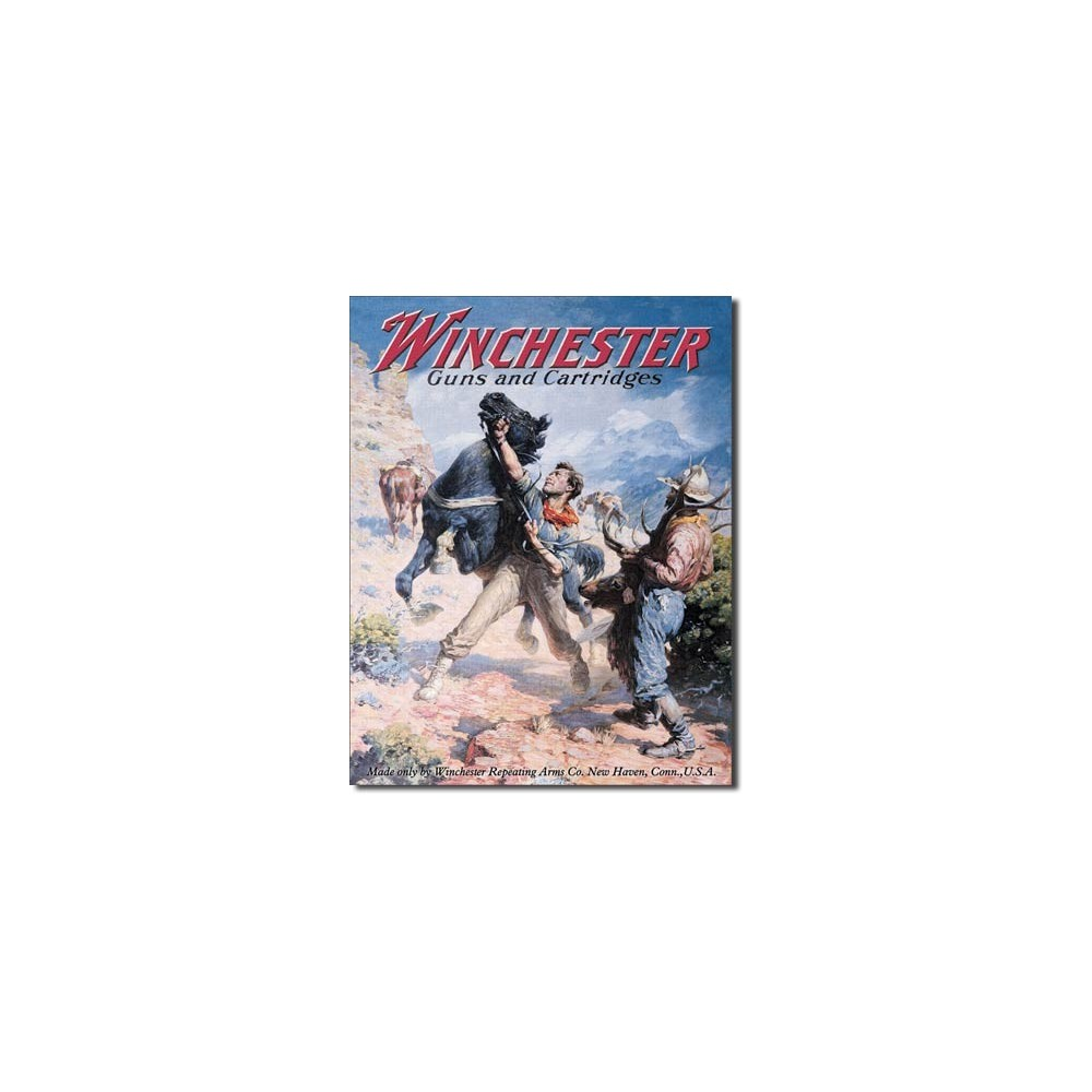 Winchester Guns and Cartridges Metal Sign