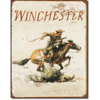 Winchester Western Rider Logo Metal Sign