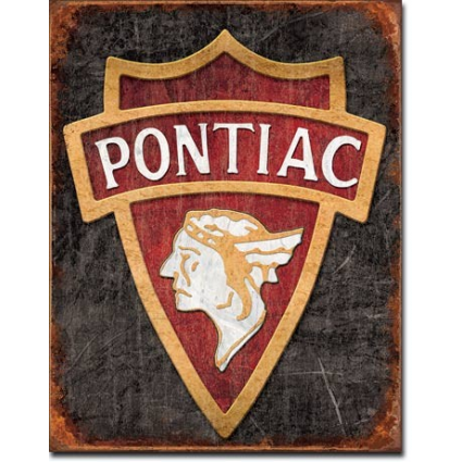 Desperate Enterprises 1930 Pontiac Logo Metal Sign