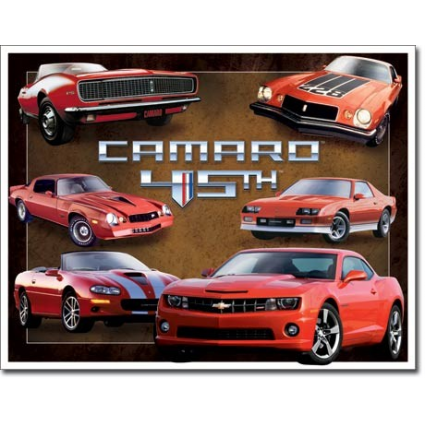 Desperate Enterprises Chevy Camaro 45 Anniversary Metal Sign