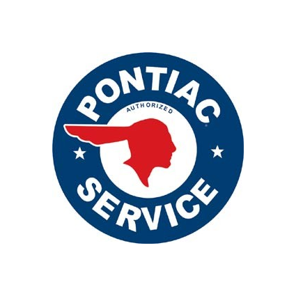 Desperate Enterprises Authorized Pontiac Service Round Metal Sign