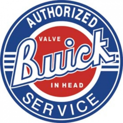 Desperate Enterprises Authorized Buick Service Round Metal Sign
