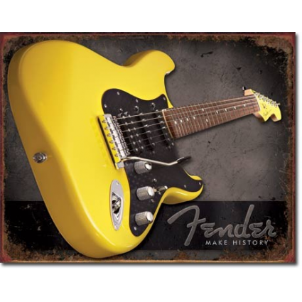 Desperate Enterprises Fender Guitar Make History Tin Sign Ivey's Gifts and Decor