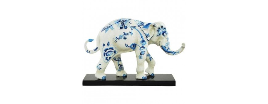 Tusk Elephant Figurines