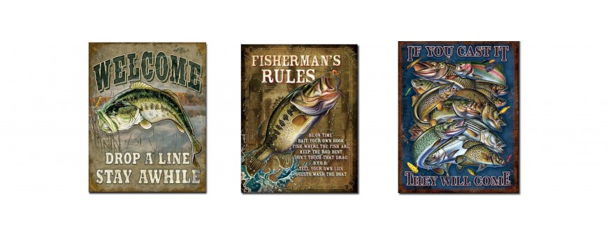 Fishing Metal Sign