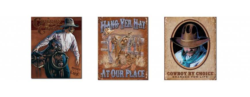 Cowboy and Western Metal Signs