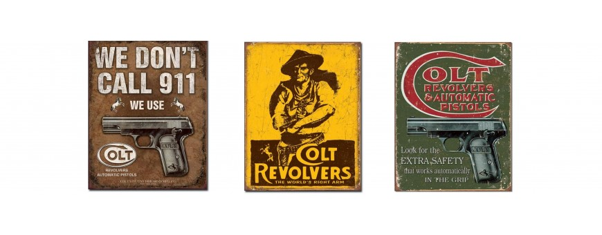 Colt Firearms Metal Signs