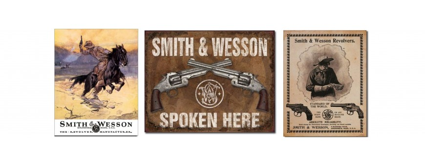 Smith and Wesson Metal Signs