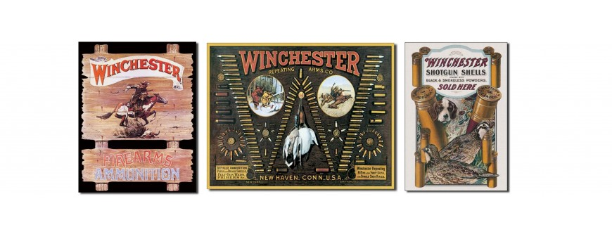 Winchester Firearms Metal Signs