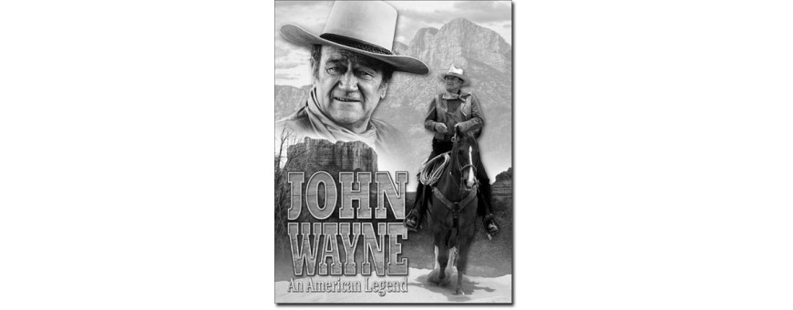 John Wayne Metal Signs